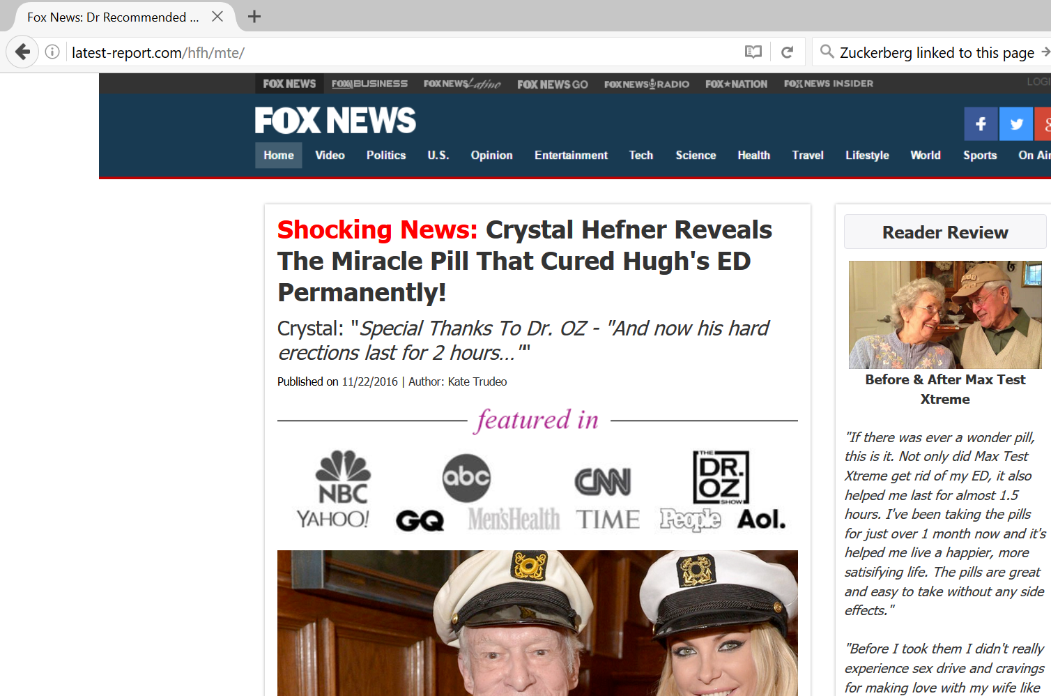Fake Fox News site