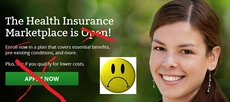 ObamaCare HealthCare site glitches on its first day