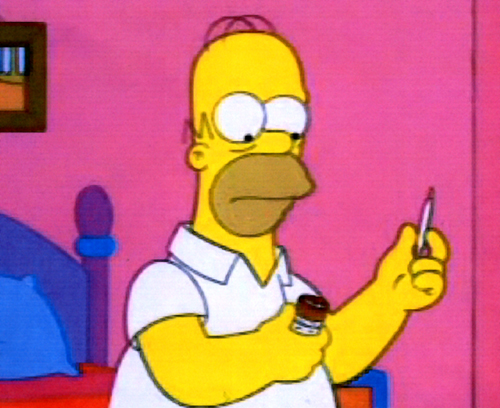 Homer Simpsons Smokin' Weed