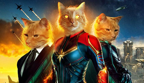 Captain Marvel movie poster re-done by Goose Danvers (cropped)